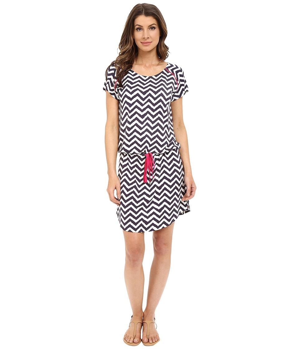 Hatley Dropped Waist Dress Navy/White Zigzag Womens Dress