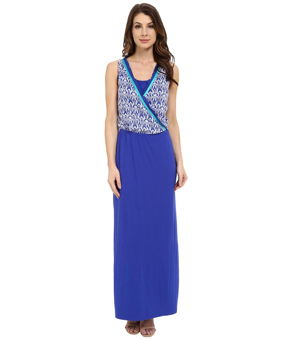 Hatley Maxi Dress Sapphire Ikat Womens Dress