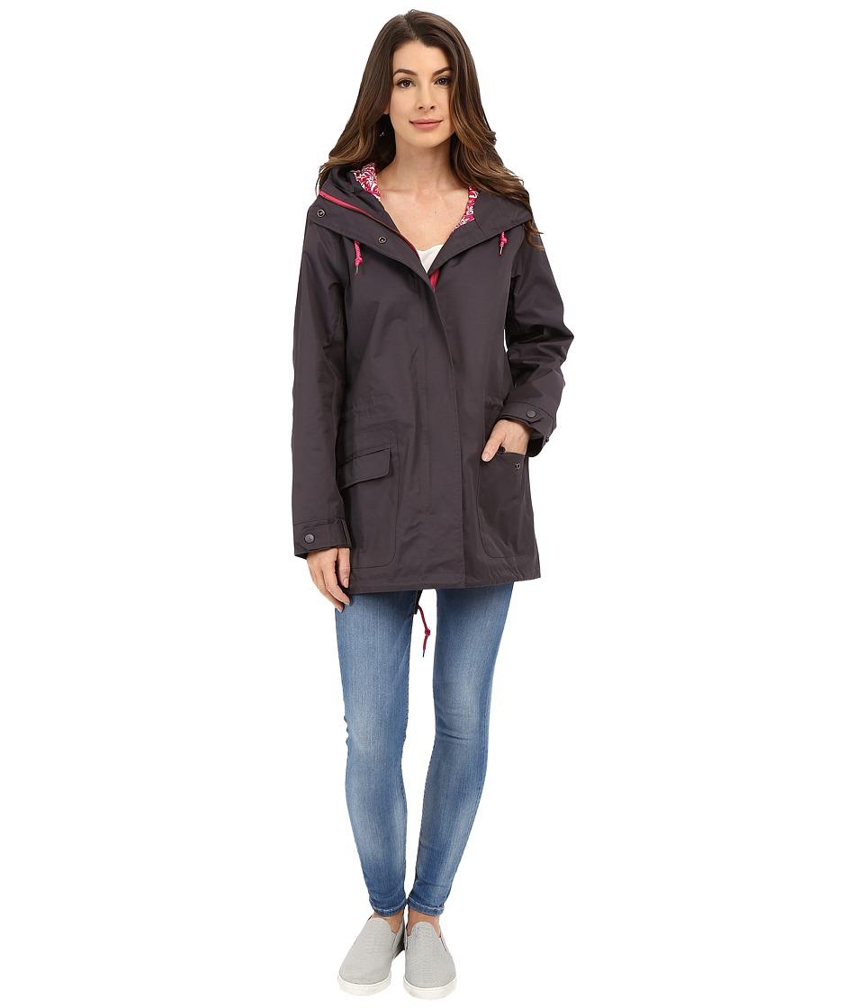 Hatley Field Jacket Grey/Embossed Flowers Womens Coat