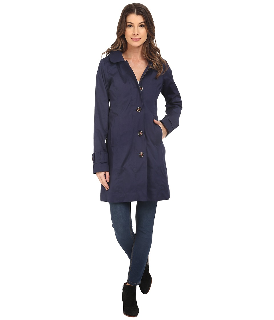 Hatley Classic Raincoat Navy/Floral Tapestry Womens Coat
