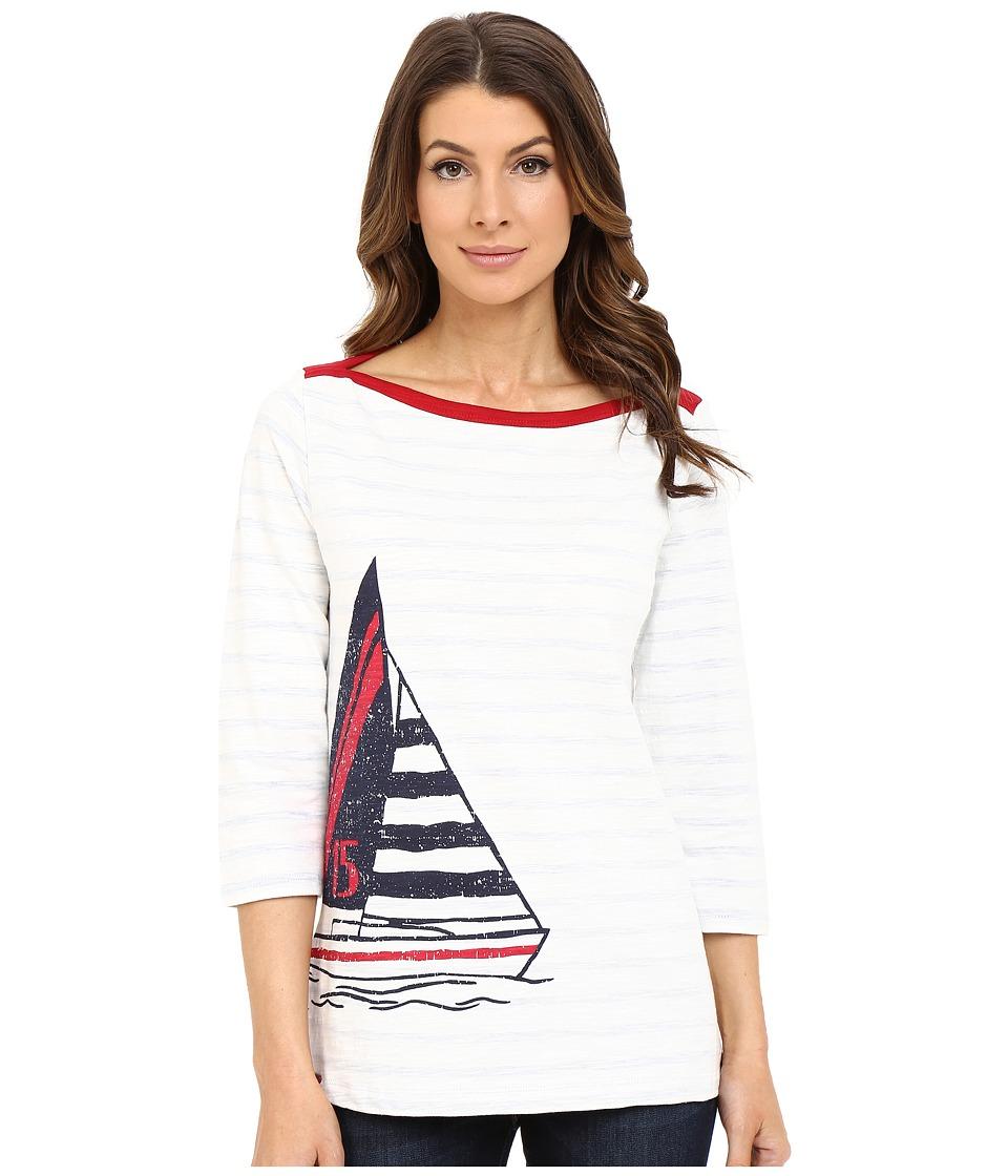 Hatley Breton Top Sailboat Stripes Womens Clothing