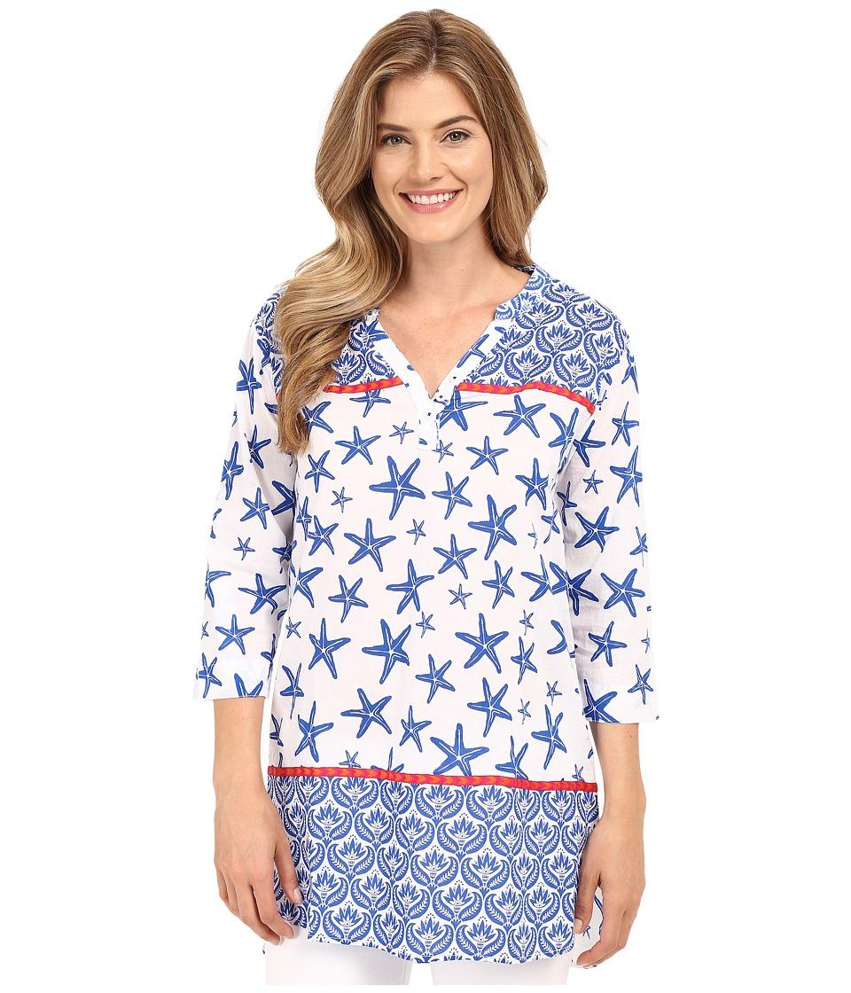 Hatley Starfish Womens Beach Tunic Sapphire Starfish Womens Clothing