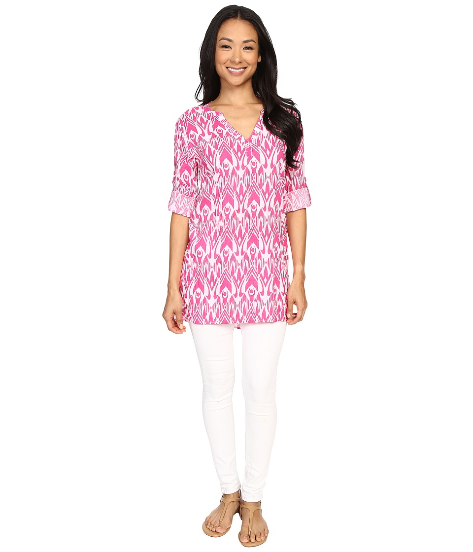 Hatley Classic Tunic Fuchsia Ikat Womens Clothing