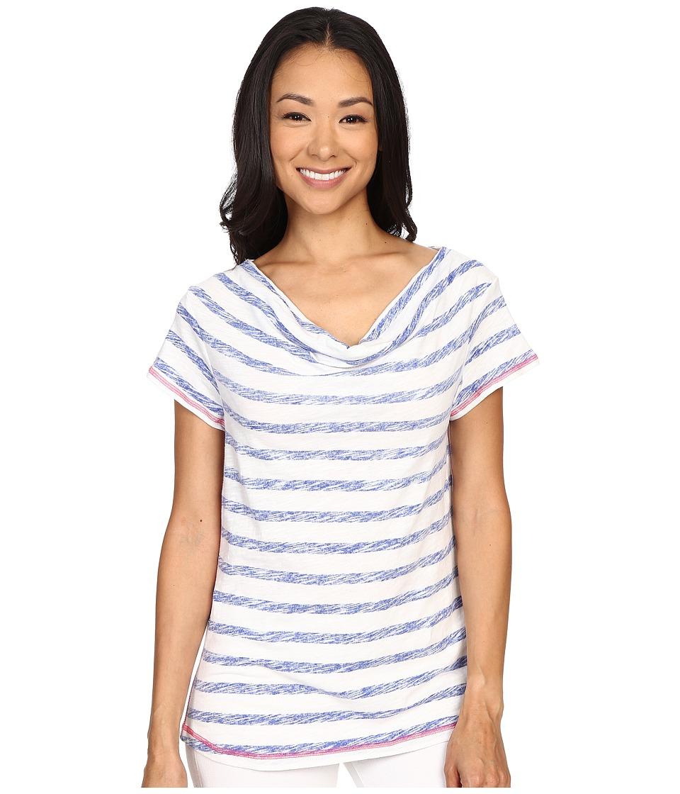 Hatley Cowel Neck Top Blue Stripes Womens Clothing