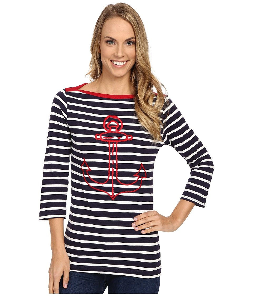 Hatley Breton Top Embroidered Anchor Womens Clothing