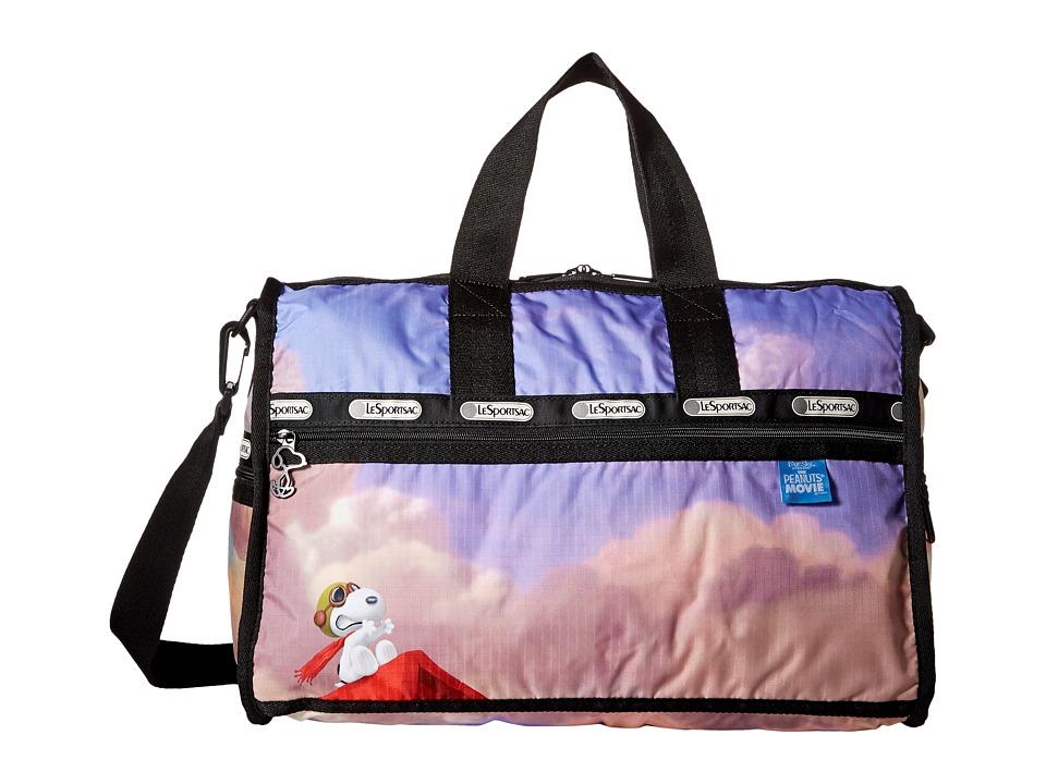 LeSportsac Luggage Medium Weekender Snoopy Over Paris Medium Duffel Bags