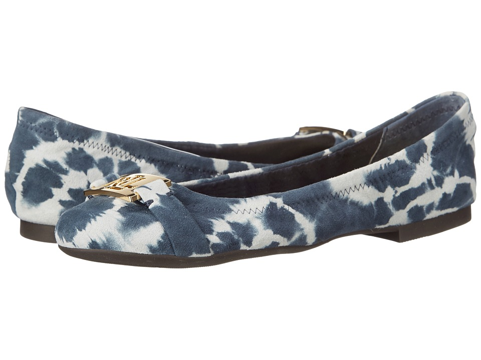 LAUREN Ralph Lauren Betty (Navy Tyedye Leather) Women