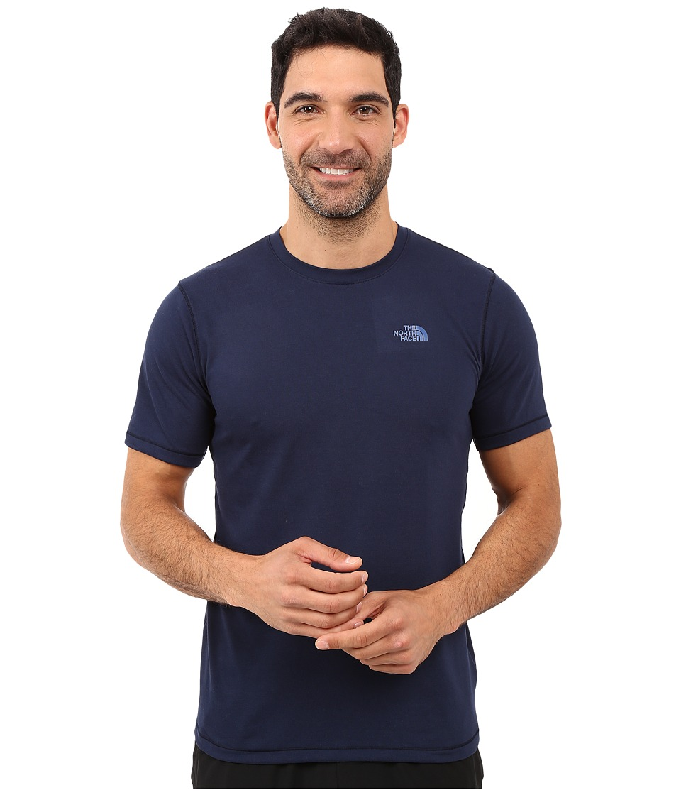The North Face - Short Sleeve Crag Crew (Cosmic Blue) Men