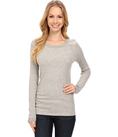 Dylan by True Grit - Solid Long Sleeve Tee with Lace