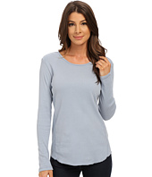 Dylan by True Grit - Long Sleeve Cotton Tee with Soft Knit Side Panel