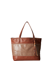 Big Buddha - Erza Color Block Whipstitch Tote w/ Bamboo Tassel