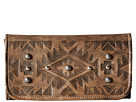 American West Mystic Shadow Tri-Fold Wallet (Distressed Charcoal Brown)