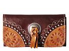 American West Chestnut Ridge Tri-Fold Wallet (Chestnut Brown/Golden Tan)