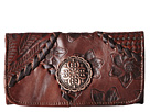 American West Soho Groove Tri-Fold Wallet (Chestnut Brown)