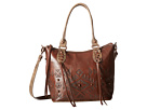 American West Mystic Shadow Convertible Bucket Tote (Chestnut Brown/Distressed Charcoal Brown)