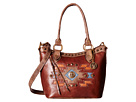 American West Zuni Passage Convertible Bucket Tote (Chestnut Brown/Distressed Charcoal Brown)
