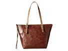 American West Mystic Shadow Bucket Tote (Chestnut Brown/Distressed Charcoal Brown)