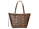 American West Mystic Shadow Bucket Tote (Distressed Charcoal Brown/Chestnut Brown)
