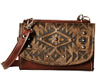 American West Mystic Shadow Small Crossbody/Wallet (Distressed Charcoal Brown/Chestnut Brown)