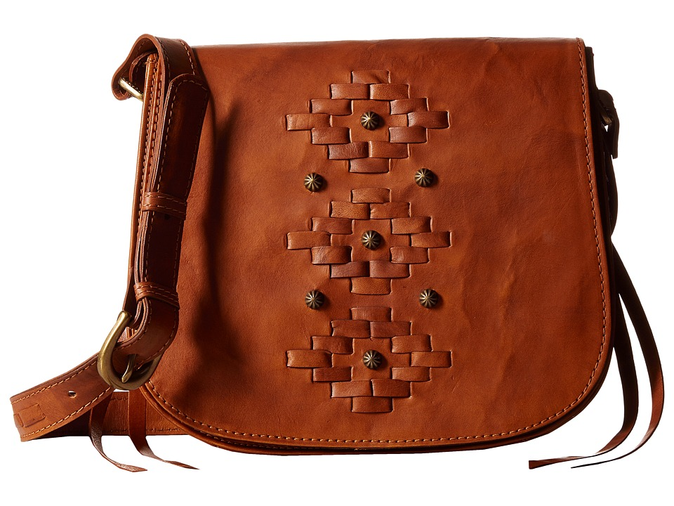 American West - Amber Waves Crossbody (Golden Tan) Cross Body Handbags