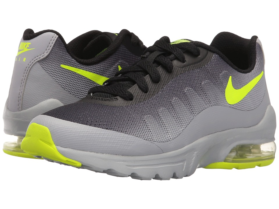 Nike Kids Air Max Invigor (Big Kid) (Wolf Grey/Black/Volt) Boys Shoes