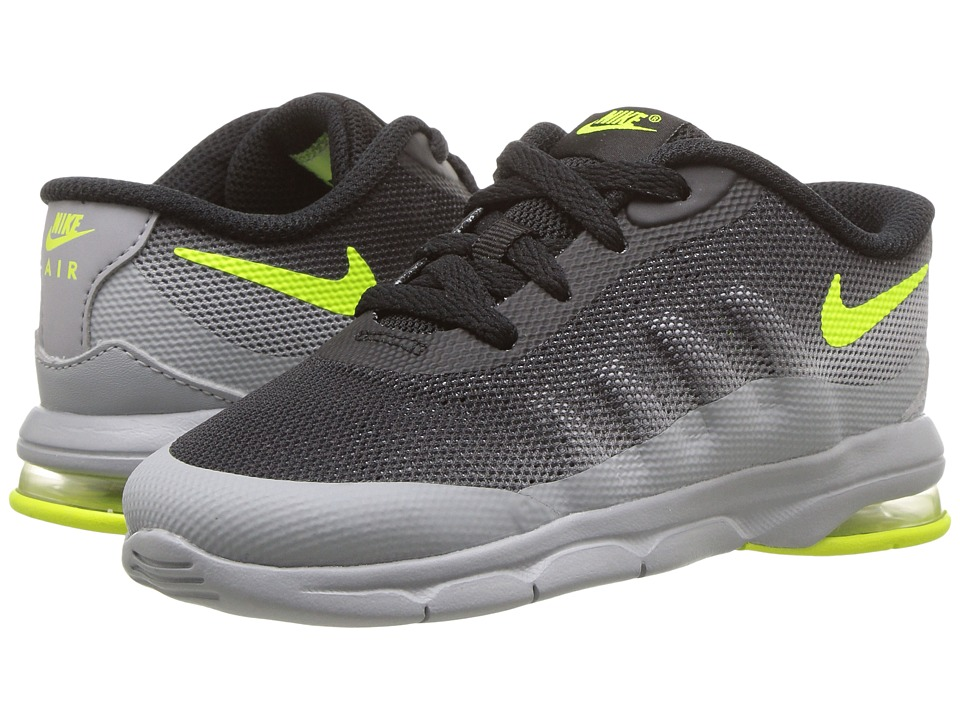Nike Kids Air Max Invigor (Infant/Toddler) (Wolf Grey/Black/Volt) Kids Shoes
