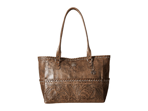 American West Carry-on Tote - Distressed Charcoal Brown