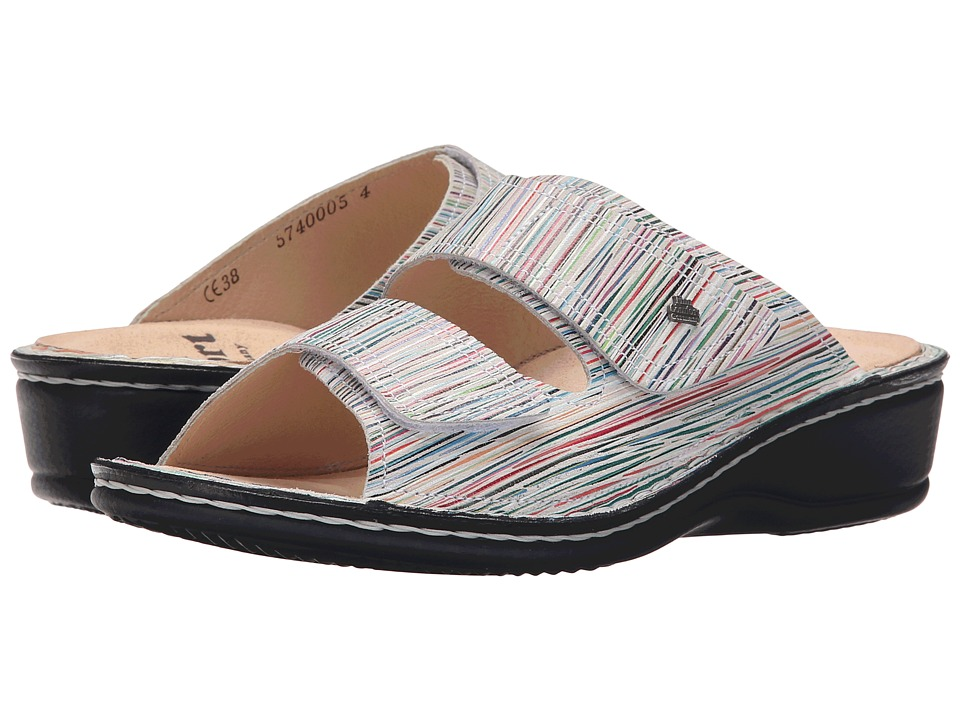 Finn Comfort Jamaika Stripes Womens Slide Shoes