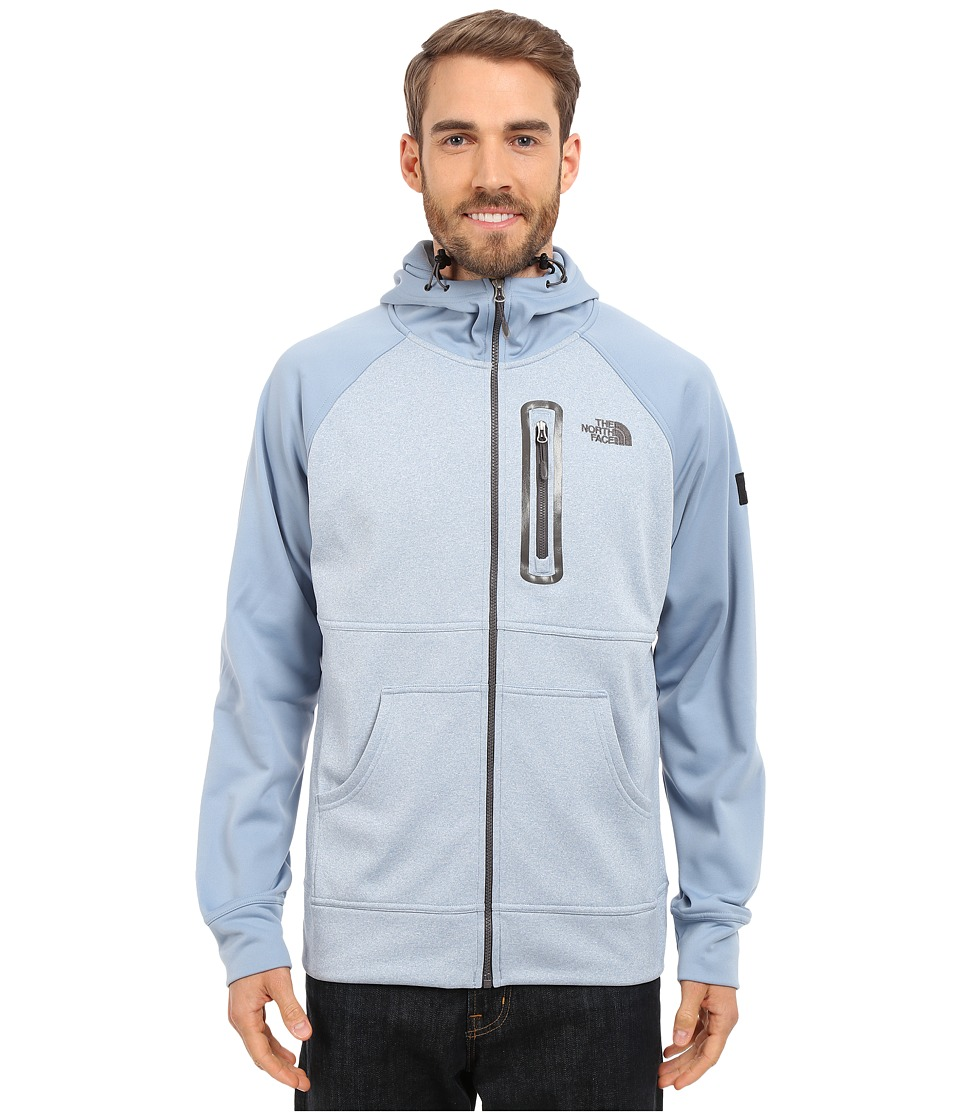 The North Face Mack Mays Full Zip Hoodie Faded Denim Heather/Faded Denim Mens Sweatshirt