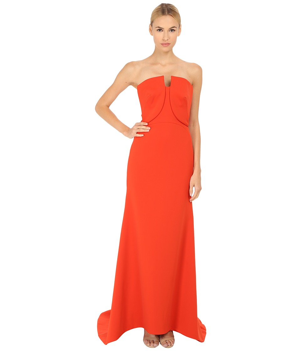Zac Posen 06 8339 49 Orange Womens Dress