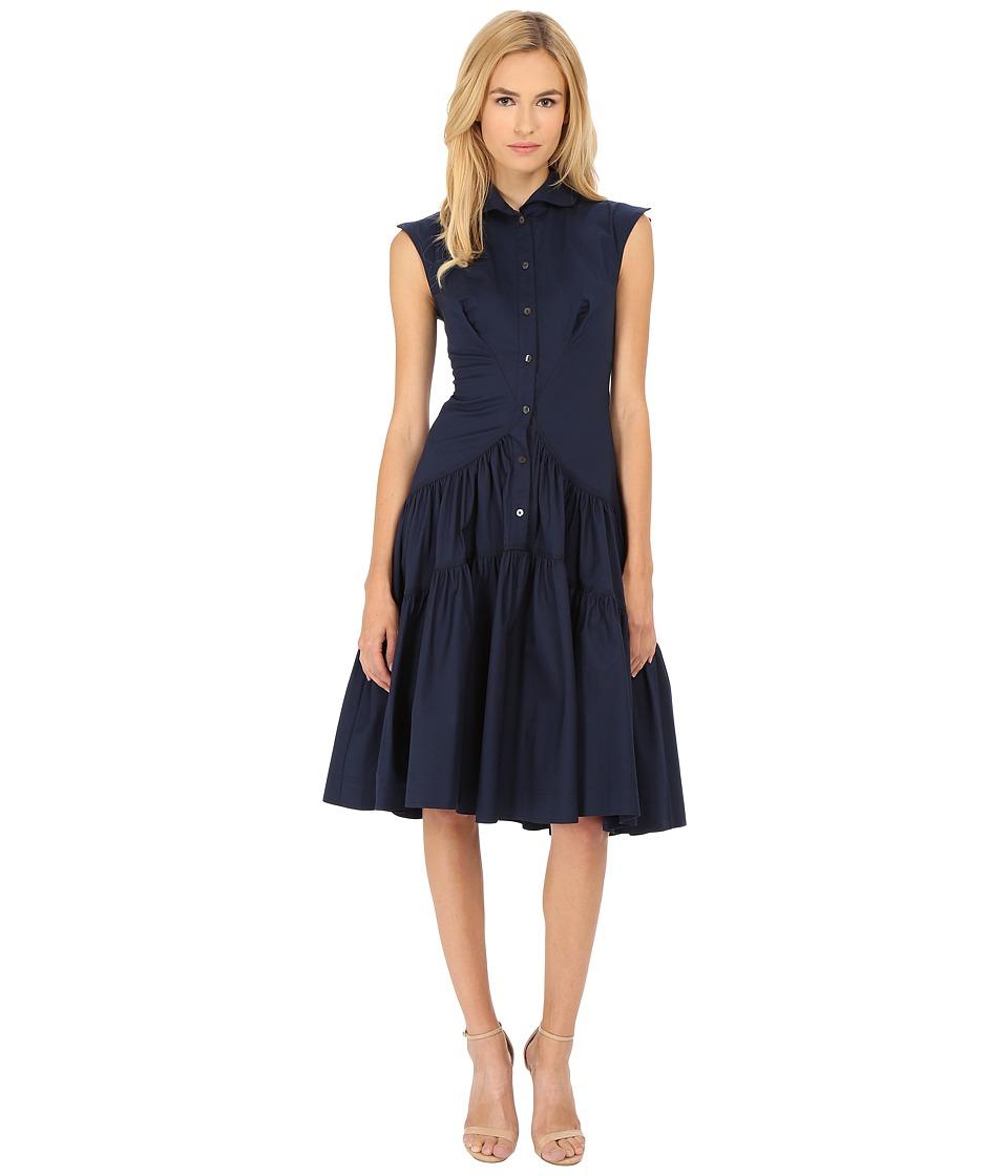 Zac Posen 09 5825 49 Navy Womens Dress