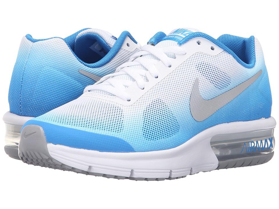 Nike Kids Air Max Sequent Big Kid Photo Blue/White/Photo Blue/Metallic Silver Boys Shoes