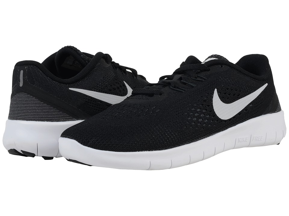 Nike Kids Free RN (Big Kid) (Black/Anthracite/Metallic Silver) Boys Shoes