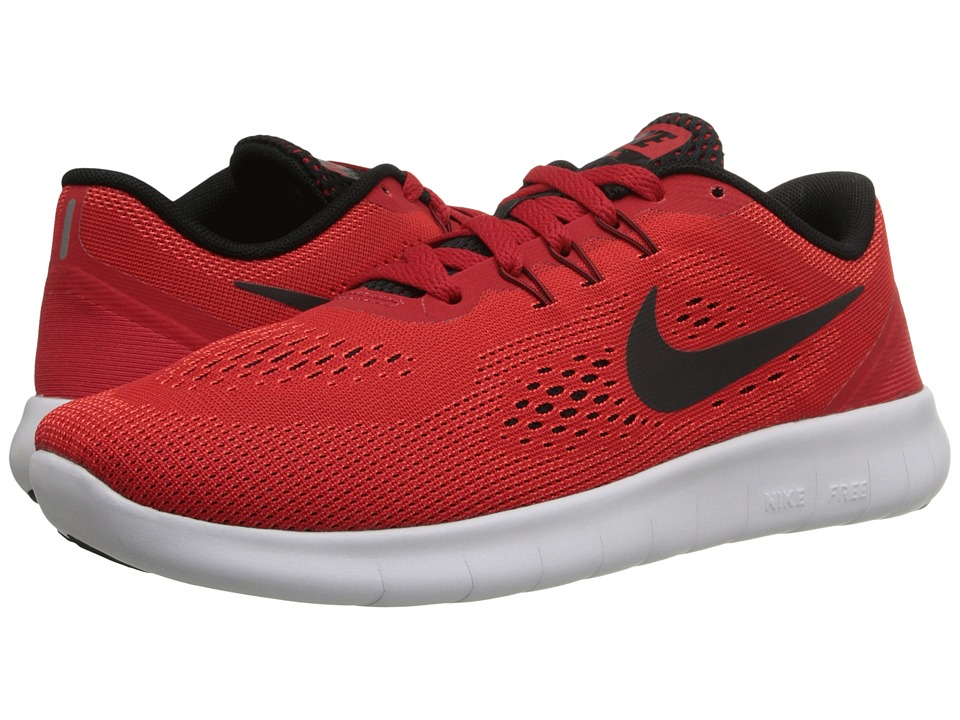 Nike Kids Free RN (Big Kid) (University Red/White/Black) Boys Shoes