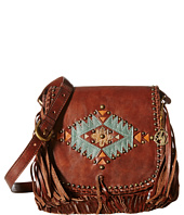 American West - Pueblo Moon Fringe Flap Crossbody