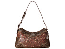American West Rosewood Shoulder Bag (Distressed Charcoal Brown/Dusty Rose/Sand)