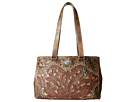 American West Rosewood Shopper Tote (Distressed Charcoal Brown/Dusty Rose/Sand)