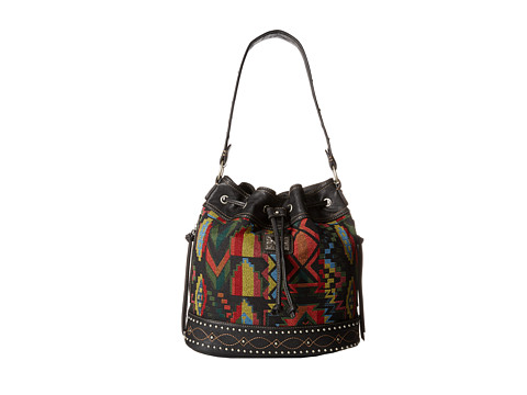 American West Black Canyon Drawstring Bucket - Black/Multi