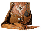 American West Winslow Fringe Flap Crossbody (Taupe/Rose/Silver)