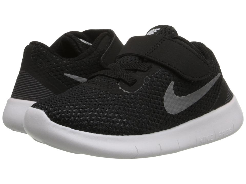 Nike Kids - Free RN (Infant/Toddler) (Black/Anthracite/Metallic Silver) Boys Shoes
