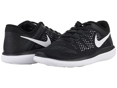 Nike Kids Flex 2016 RN (Big Kid) - Black/White