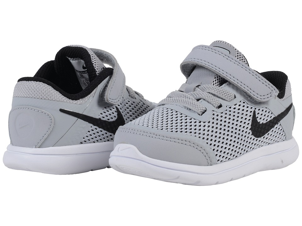 Nike Kids Flex 2016 RN (Infant/Toddler) (Wolf Grey/White/Cool Grey/Black) Boys Shoes