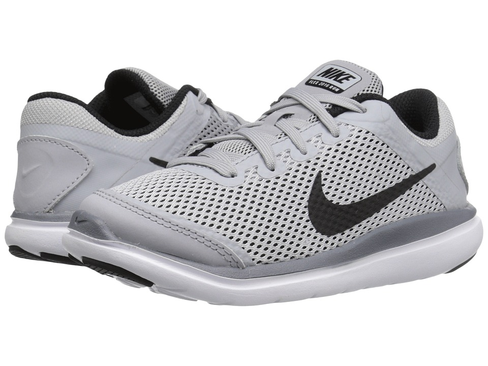 Nike Kids Flex 2016 RN (Little Kid) (Wolf Grey/White/Cool Grey/Black) Boys Shoes