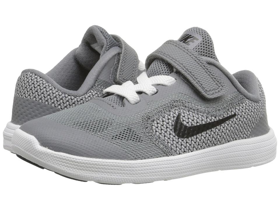 Nike Kids Revolution 3 (Infant/Toddler) (Cool Grey/White/Wolf Grey/Black) Boys Shoes