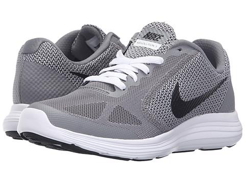 Nike Kids Revolution 3 (Big Kid) - Cool Grey/White/Wolf Grey/Black
