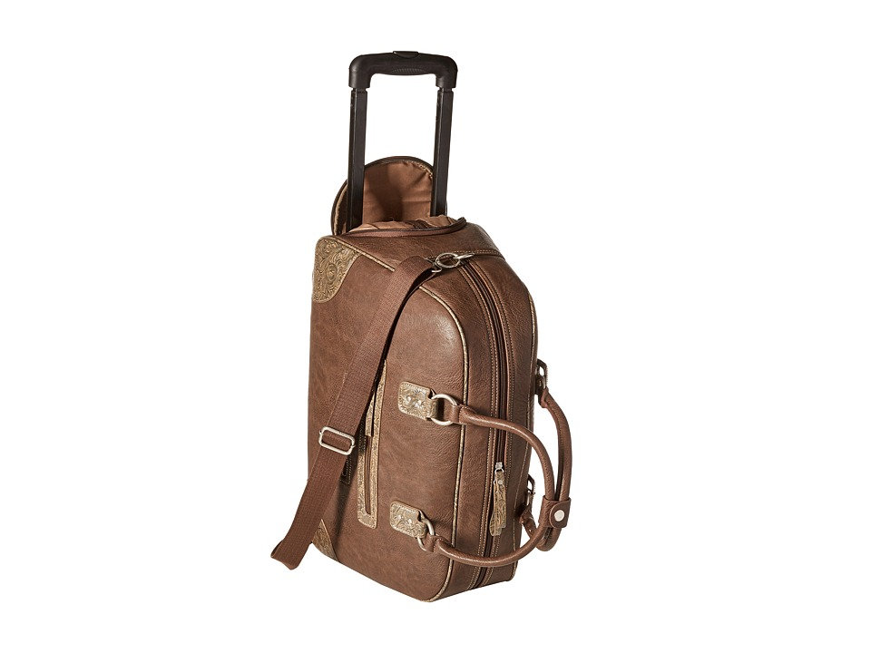 American West - Lake Tahoe Carry-On w/ Wheels (Medium Brown/Tan) Carry on Luggage