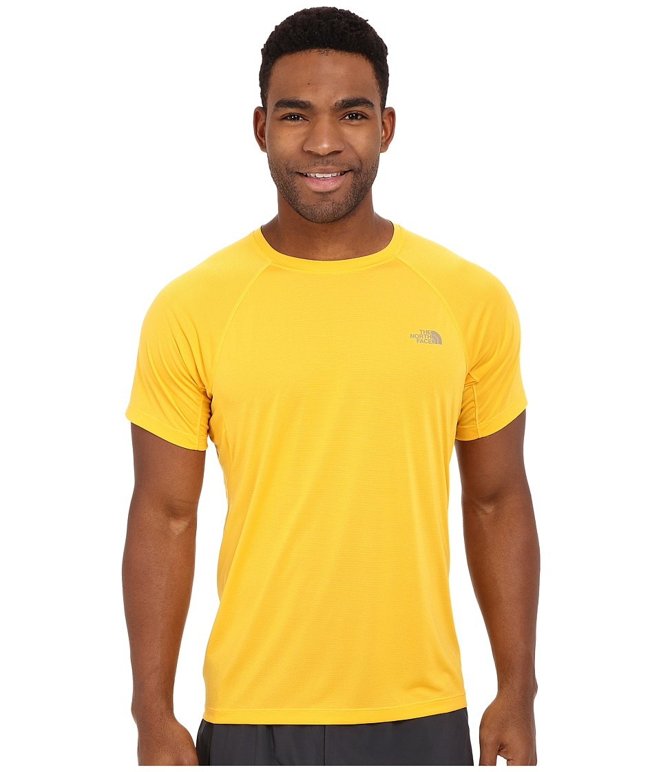 The North Face Better Than Naked Short Sleeve Shirt Citrus Yellow Mens Short Sleeve Pullover