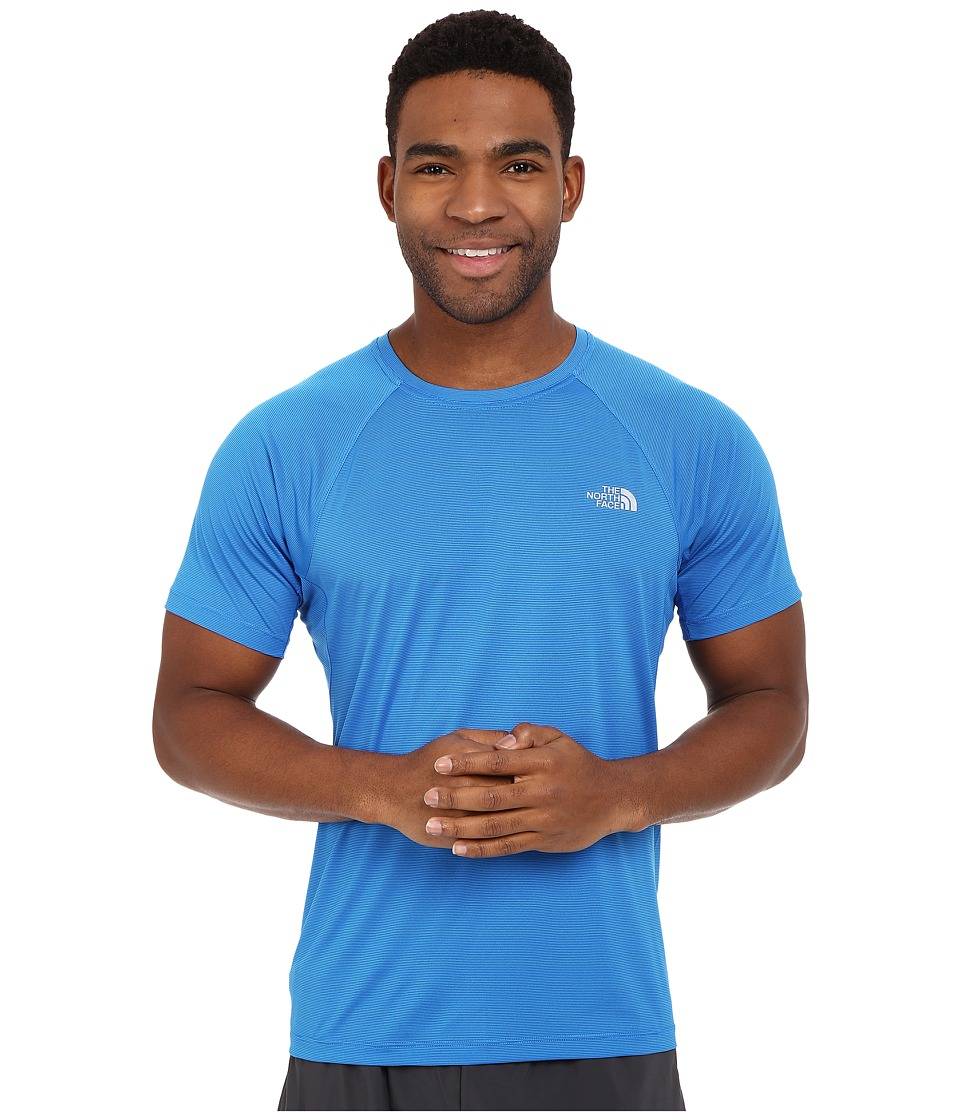 The North Face Better Than Naked Short Sleeve Shirt Bomber Blue Mens Short Sleeve Pullover