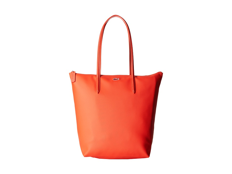 Lacoste - L.12.12 Concept M1 Vertical Tote Bag (Etna Red) Tote Handbags