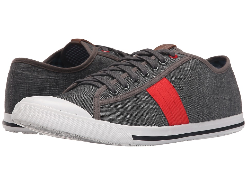 Ben Sherman Eddie Lo Grey Chambray Mens Lace up casual Shoes